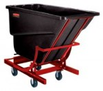 Rubbermaid Commercial 1074-43-BLA Self-Dumping Hopper