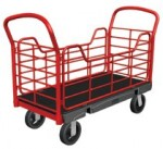 Rubbermaid Commercial 4486-BLA Side Panel Platform Truck