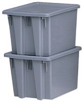 Rubbermaid Commercial 172100GRAY Stack & Nest Palletote Boxes