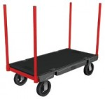 Rubbermaid Commercial 4482-BLA Stanchion Truck