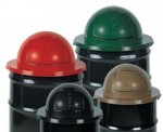 Rubbermaid Commercial 1855-BK Steel Dome Tops