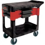 Rubbermaid Commercial 618000BLA Trades Cart