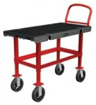 Rubbermaid Commercial 4474-BLA Work Height Platform Truck