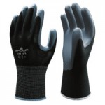 SHOWA 370BL-08 Atlas Assembly Grip 370B Nitrile-Coated Gloves