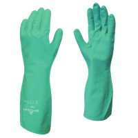 SHOWA 730-11 Flock-Lined Nitrile Disposable Gloves