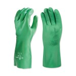 SHOWA 73110 Flocked Lined Nitrile Biodegradable Gloves