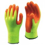 SHOWA 317L-09 Hi-Viz Latex Coated Gloves