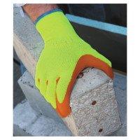 SHOWA 317S-07 Hi-Viz Latex Coated Gloves