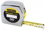"Stanley 33-430 Powerlock Tape Rules 1"" Wide Blade"