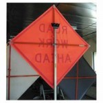 TrafFix Devices,Inc. 26048-EV-HF-BPTS VizCon Vinyl Roll Up Sign with Plastic Corner Pockets
