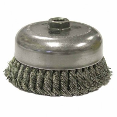 Weiler 12536 Double Row Heavy-Duty Knot Wire Cup Brushes