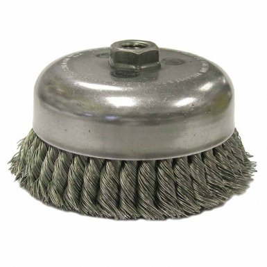 Weiler 12576 Double Row Heavy-Duty Knot Wire Cup Brushes