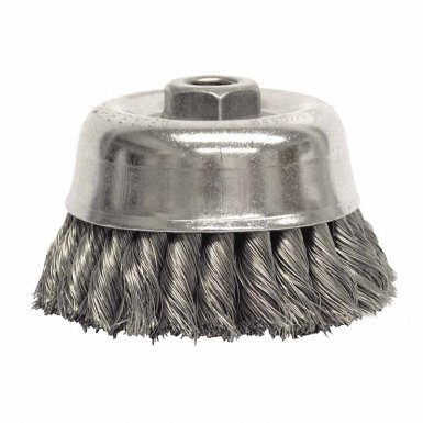 Weiler 12766 Double Row Heavy-Duty Knot Wire Cup Brushes
