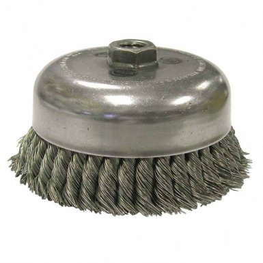 Weiler 12916 Double Row Heavy-Duty Knot Wire Cup Brushes
