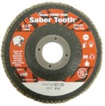 Weiler 50130 Saber Tooth Abrasive Flap Discs