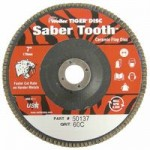 Weiler 50137 Saber Tooth Abrasive Flap Discs