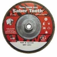 Weiler 50139 Saber Tooth Abrasive Flap Discs