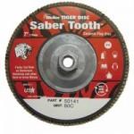 Weiler 50141 Saber Tooth Abrasive Flap Discs