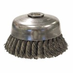 Weiler 12276 Single Row Heavy-Duty Knot Wire Cup Brushes