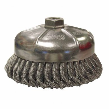 Weiler 12376 Single Row Heavy-Duty Knot Wire Cup Brushes