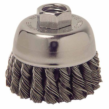 Weiler 13025 Single Row Heavy-Duty Knot Wire Cup Brushes