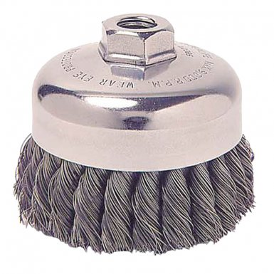 Weiler 13156 Single Row Heavy-Duty Knot Wire Cup Brushes