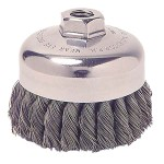 Weiler 13258 Single Row Heavy-Duty Knot Wire Cup Brushes