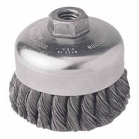 Weiler 12206 Single Row Heavy-Duty Knot Wire Cup Brushes