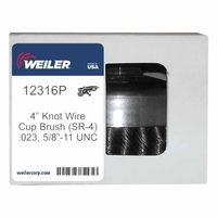 Weiler 12316P Single Row Heavy-Duty Knot Wire Cup Brushes