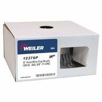 Weiler 12376P Single Row Heavy-Duty Knot Wire Cup Brushes