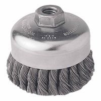 Weiler 12416 Single Row Heavy-Duty Knot Wire Cup Brushes
