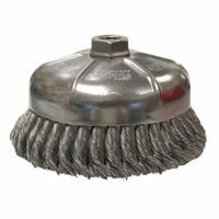 Weiler 12456 Single Row Heavy-Duty Knot Wire Cup Brushes