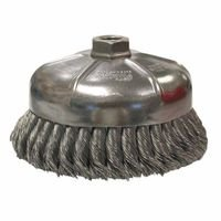 Weiler 12476 Single Row Heavy-Duty Knot Wire Cup Brushes