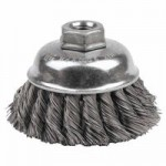 Weiler 12736 Single Row Heavy-Duty Knot Wire Cup Brushes