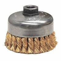Weiler 12776 Single Row Heavy-Duty Knot Wire Cup Brushes