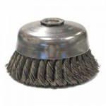 Weiler 12816 Single Row Heavy-Duty Knot Wire Cup Brushes