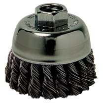 Weiler 12826 Single Row Heavy-Duty Knot Wire Cup Brushes