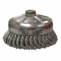 Weiler 12846 Single Row Heavy-Duty Knot Wire Cup Brushes