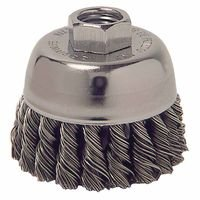 Weiler 13015 Single Row Heavy-Duty Knot Wire Cup Brushes