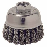 Weiler 13016 Single Row Heavy-Duty Knot Wire Cup Brushes
