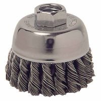 Weiler 13020 Single Row Heavy-Duty Knot Wire Cup Brushes