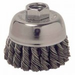 Weiler 13021 Single Row Heavy-Duty Knot Wire Cup Brushes
