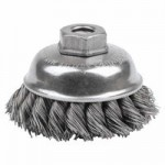 Weiler 13153 Single Row Heavy-Duty Knot Wire Cup Brushes