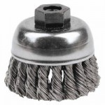Weiler 13253 Single Row Heavy-Duty Knot Wire Cup Brushes