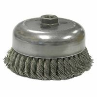 Weiler 13254 Single Row Heavy-Duty Knot Wire Cup Brushes