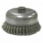 Weiler 13255 Single Row Heavy-Duty Knot Wire Cup Brushes