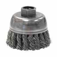 Weiler 13281 Single Row Heavy-Duty Knot Wire Cup Brushes