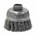 Weiler 13282 Single Row Heavy-Duty Knot Wire Cup Brushes