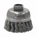 Weiler 13284 Single Row Heavy-Duty Knot Wire Cup Brushes