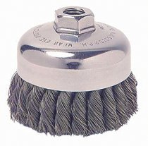 Weiler 13285 Single Row Heavy-Duty Knot Wire Cup Brushes